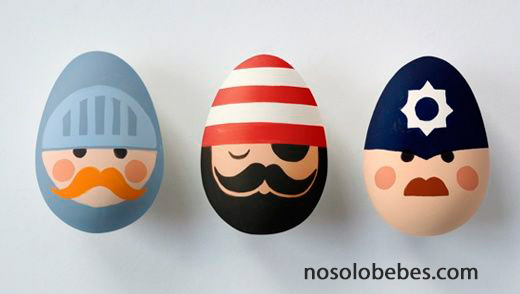 painting easter eggs characters
