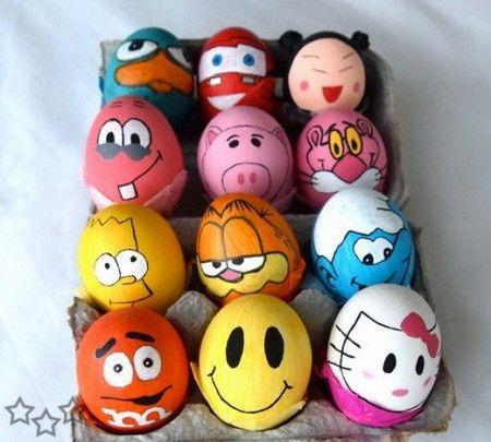 huevos-pascua-pintar-dibujos-animados
