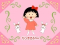 Maruko dancing with bunnies