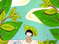 Drawing Maruko in the forest