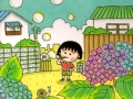 Maruko in the garden illustration